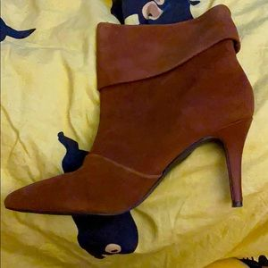 Suede boots. High heels. Charles. 7 1/2. Like new.